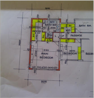 Drawing of house plans in johannesburg for Complete set of architectural drawings pdf